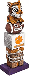Evergreen NCAA Clemson Tigers Tiki Totem
