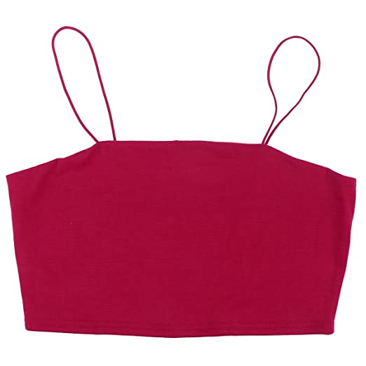 49ee543692b Amazon.com  OULII Women s Strap Crop Top Sexy Thin Strap Bandeau ...