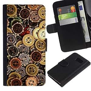 All Phone Most Case / Oferta Especial Cáscara Funda de cuero Monedero Cubierta de proteccion Caso / Wallet Case for Sony Xperia Z3 Compact // CASINO CHIPS MONEY