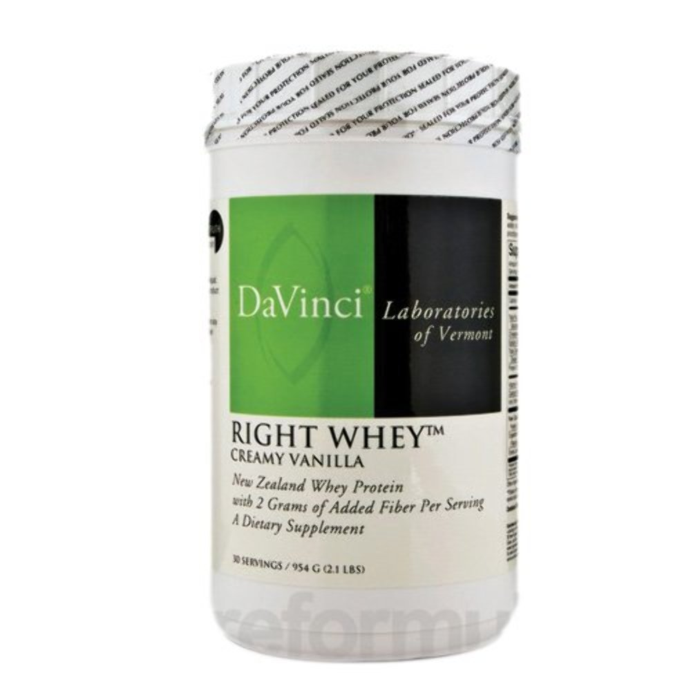 DaVinci Laboratories of Vermont Right Whey Protein, Vanilla, 30 Count