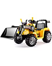 Rovo Kids Electric Ride On Tractor Digger with Charger and Remote Control