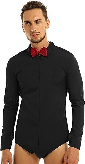 Mens One-piece Latin Modern Dance Shirt Ballroom Rumba Salsa Zipper Romper Shirt