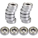 Generic MagiDeal 608 Skate Ball Bearings for Skateboard Scooter Hockey 16PCS Silver
