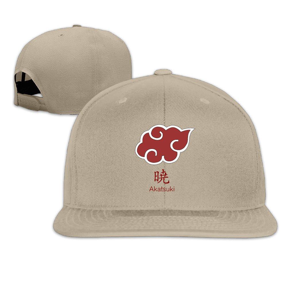 VOLTE Japanese Comic Naruto Shippuden Akatsuki Organization Flat Bill Snapback Adjustable B-boy Caps Hats Black