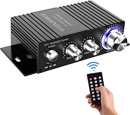 Mini Bluetooth 5.0 Digital Power Amplifier HiFi Stereo Audio Amp 50W+50W USB//AUX