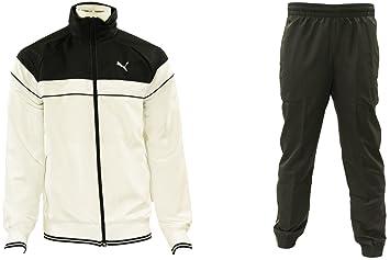 22109c2cba193 Puma Woven Style Suit Closed Ensemble Survetement Sport Homme Noir Blanc  T XXL