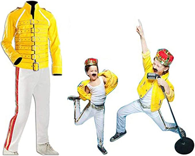 NMFashions Freddie Mercury Yellow Wembley - Disfraz de Concierto ...