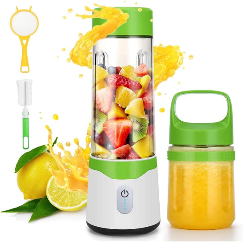 Portable Fruit blender, Personal mini Size Blender for Smoothies and Shakes, Six blades in 3D for Superb Mixing, 17oz/500ML USB Rechargeable Juicer Cup, 4000mAh Powerful Handheld With Filter grid Fruit Mixer Machine for Home or Sports,Gift