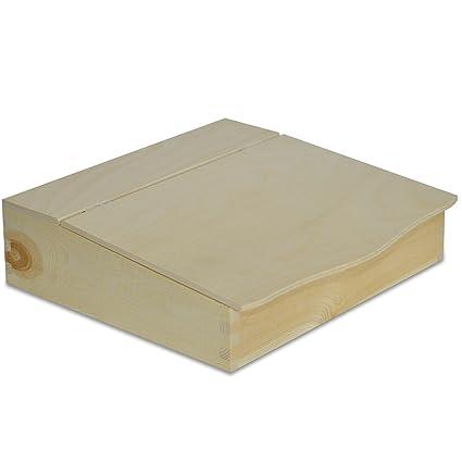 Creative Deco Caja Organizador Escritorio Papelera Madera | 27 x 27,5 x 7,