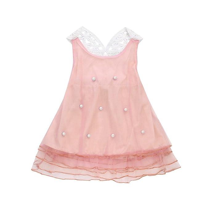 Logobeing Verano Ropa Bebe Niña Vestido de Princesa con Estampado de Perlas y Vestidos de Tutú: Amazon.es: Ropa y accesorios