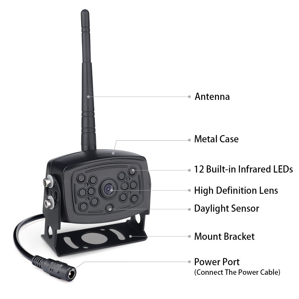 【2nd Generation】 SVTCAM SV-612W Wireless Backup Camera, Waterproof Night  Vision Wireless Rear View Camera for Trucks/Trailers/Camper/5th Wheel