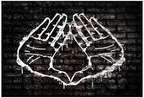 Laminated Illuminati Hand Sign Graffiti Poster 19 x 13in