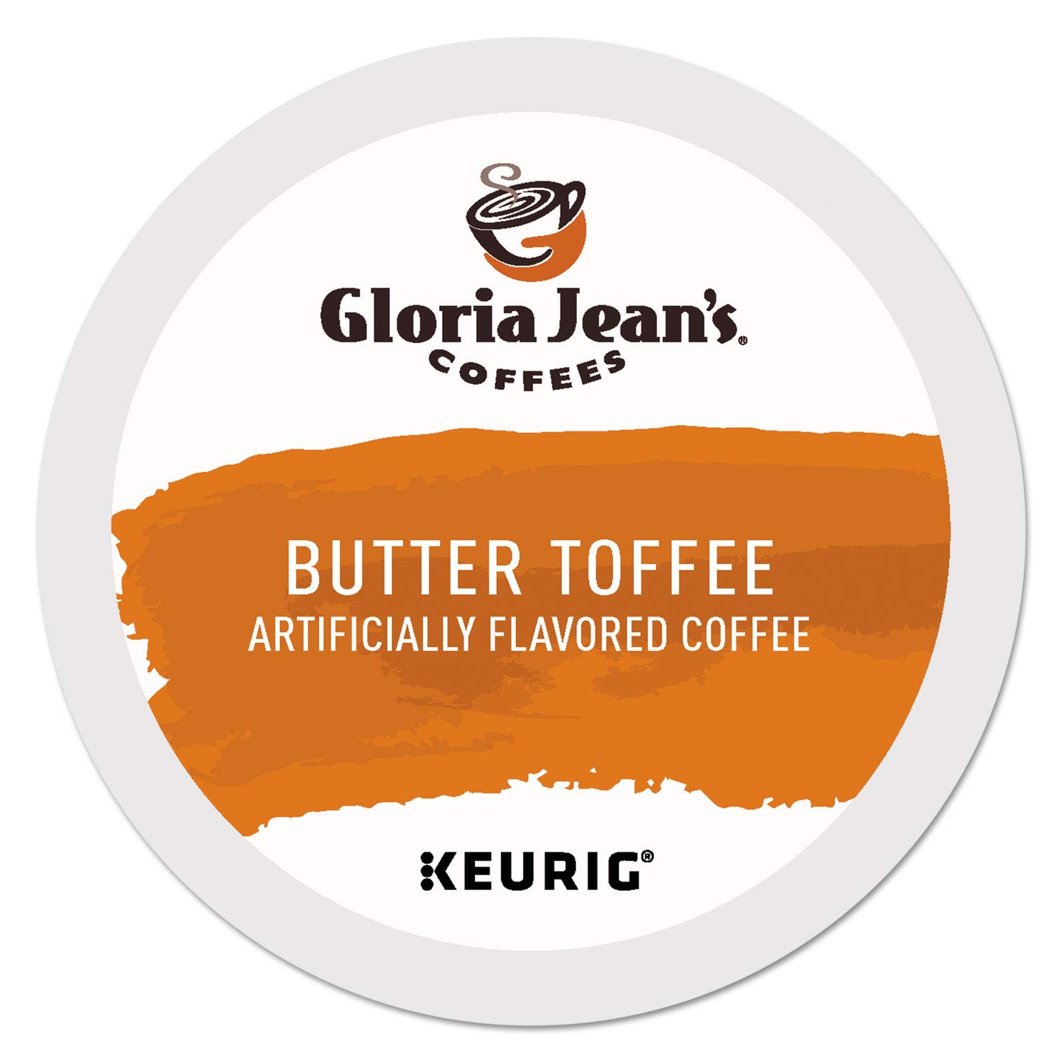 Gloria Jean's Coffee Butter Toffee, Single Serve K-Cup Pod, Flavored Coffee, 96 Count by Gloria Jean's