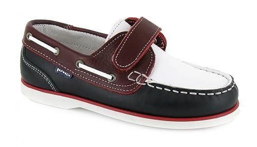Garvalin, 132740, Nautico Marino-Rojo-Blanco de Niños, Talla 28: Amazon.es: Zapatos y complementos
