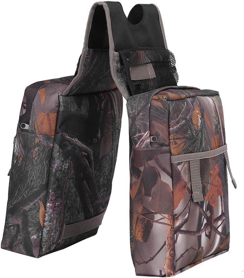 Size:10.9 x 9.3 x 3.2inch Waterproof Oxford Cloth Camouflage ATV Motorcycle Snowmobile Padded Saddle Bag for Storaging Drink Wallet Cell Phone Camera Tools and Other Trail Goodies Saddle Bag