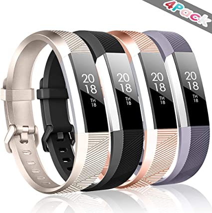 SILVER /& PURPLE Small-Large Wristband Band Strap Bracelet For FITBIT ALTA//HR//ACE