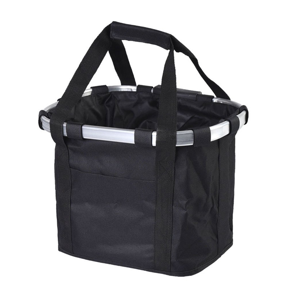 UEETEK Detachable Pet Bicycle Basket for Travelling,Carrier Bag for Dogs,Bicycle Carriers Basket for Pet Dog Cat (Black)