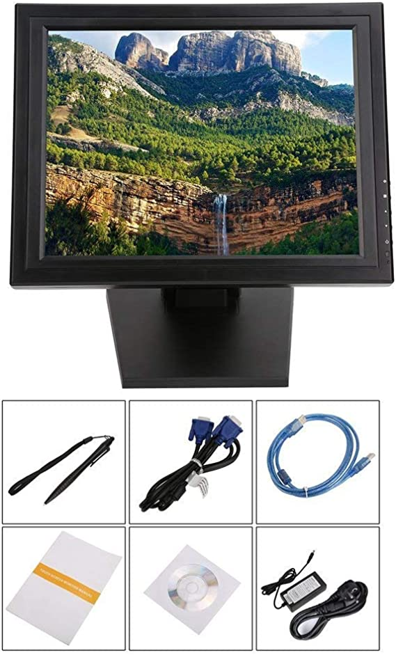 17 Inch Touch Screen LED Monitor POS TFT LCD Touchscreen 1024 X 768 Retail Restaurant Bar Touch Screen Display USB Interface: Amazon.es: Electrónica