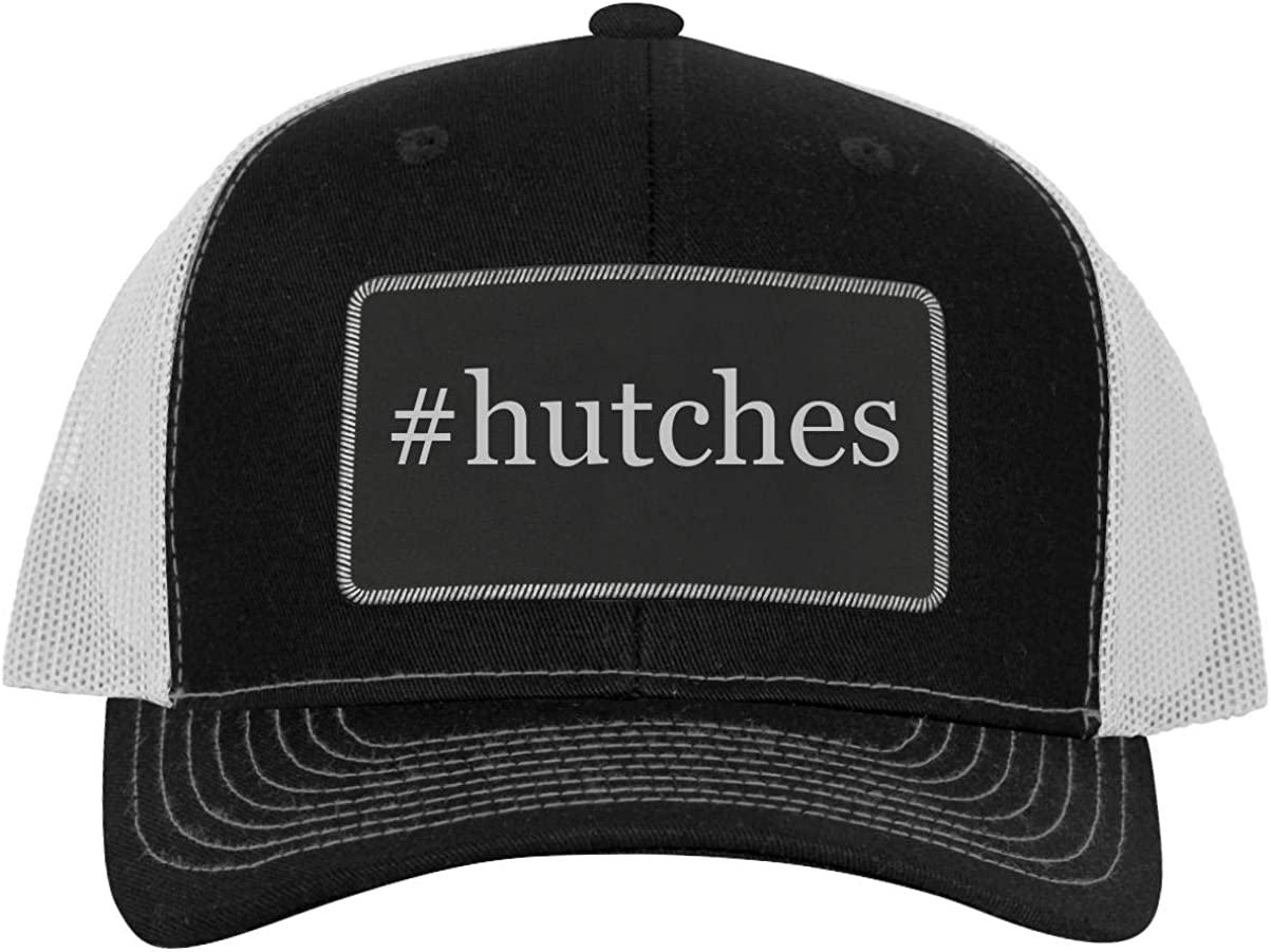 Leather Hashtag Black Patch Engraved Trucker Hat One Legging it Around #hutches