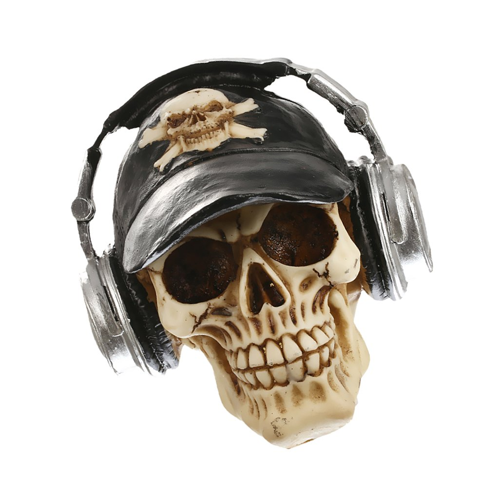 MagiDeal 3D Cranio Teste con Cappelli Cuffie Gotico Steampunk Rave Goth Di Cyber Mestiere Ornamento