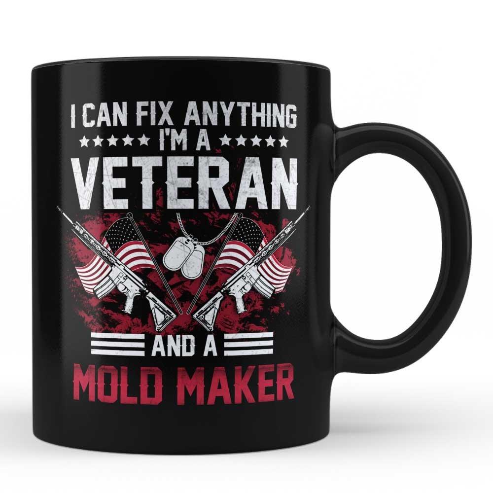 Amazon com: I'm A Veteran Mold Maker Mug - Gift for Veteran