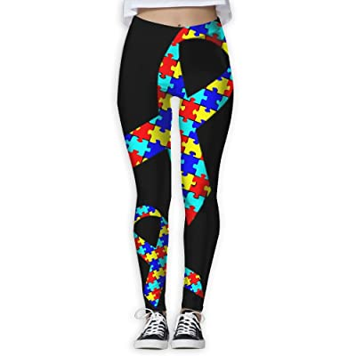 Oiybab Sofas Autism Awareness Ribbon Girls Full-Length Yoga Pants Fitness Workout Leggings Sizeykey