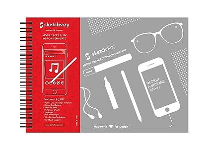 SKETCHEAZY Mobile App UI/UX Design Template A4 Sketchbook