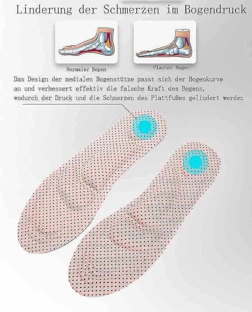 Knien Tacohan Orthop/ädische Einlegesohlen Taille und Nacken bei wirksam reduzieren 4D Memory Foam Orthop/ädische Einlegesohlen Support Einlegesohlen Kann die M/üdigkeit und Schmerzen von F/ü/ßen