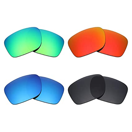 611955b1d6 mryok 4 pares polarizadas lentes de repuesto para Oakley Holbrook –  anteojos de sol, Stealth