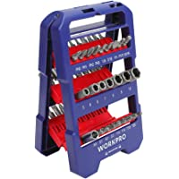 Workpro 51-piece Slotted Phillips Torx Hex Bits and Nut Driver Set with Auto Opening Molded Holder Case