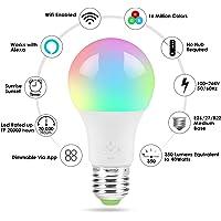 LED Inteligente, WiFi Bombillas Inteligentes 4.5W Dimmable, No Se Requiere Hub, Funciona con Amazon Alexa Google Home E27