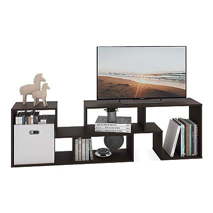 DEVAISE 2 Piece TV Stand   Television Console Cabinet For 22u0026quot;    60u0026quot;,