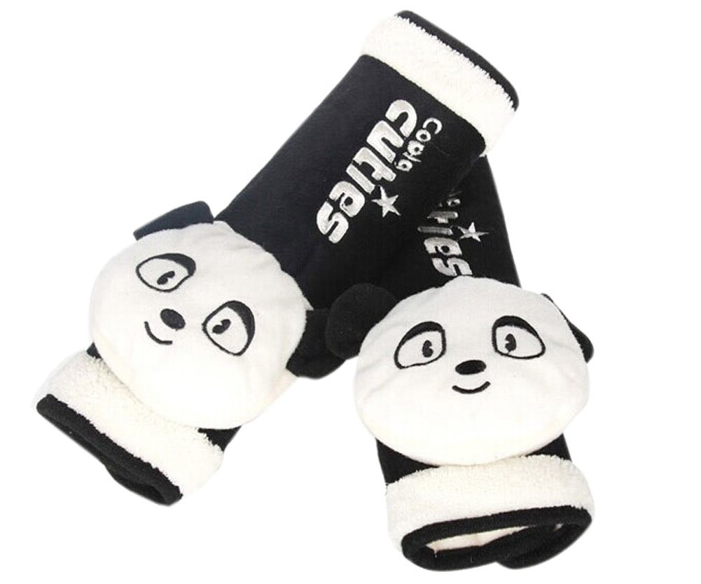 Lovely Panda Doll- Safe Car Soft Seat Belt Strap Cover, A Pair Panda Superstore