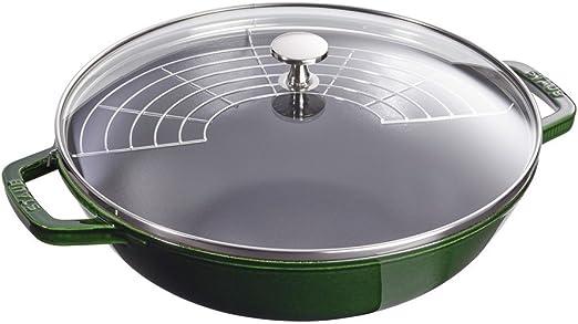 4.5qt Basil Staub Cast Iron Perfect Pan