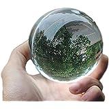 rubitas ジャグリング クリスタル ボール 60 ~ 110mm マジック 占い 水晶玉 大道芸人 クリア (80 mm)