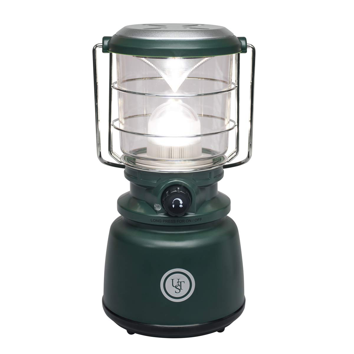 UST Heritage Camp 1,000 Lumen Water Resistant Lantern with Dimmer Switch and Hook for Camping, Hiking, Emergency and Outdoor Survival