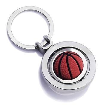 kingru 3d Rotating Deportes Baloncesto llavero creativo ...