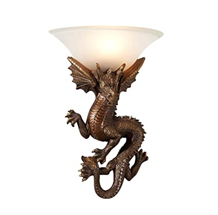 quality design ec27a 33d7e Amazon.com: DGF Resin Wall Lamp / Retro Bedroom Bedside Lamp ...