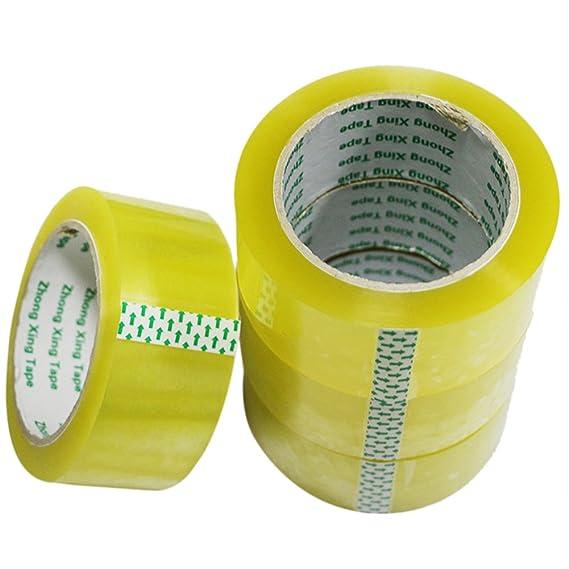 huifenfs 5 rollos Cinta de embalaje resistente sellado adhesivo industrial cintas para envío, embalaje, movimiento, oficina, almacenamiento: Amazon.es: ...