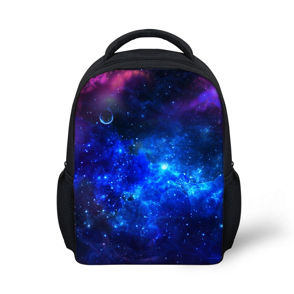 Hoijay Preschool Backpack, Little Kid Backpacks for Boys and Girls Cosmic Blue Fantasy
