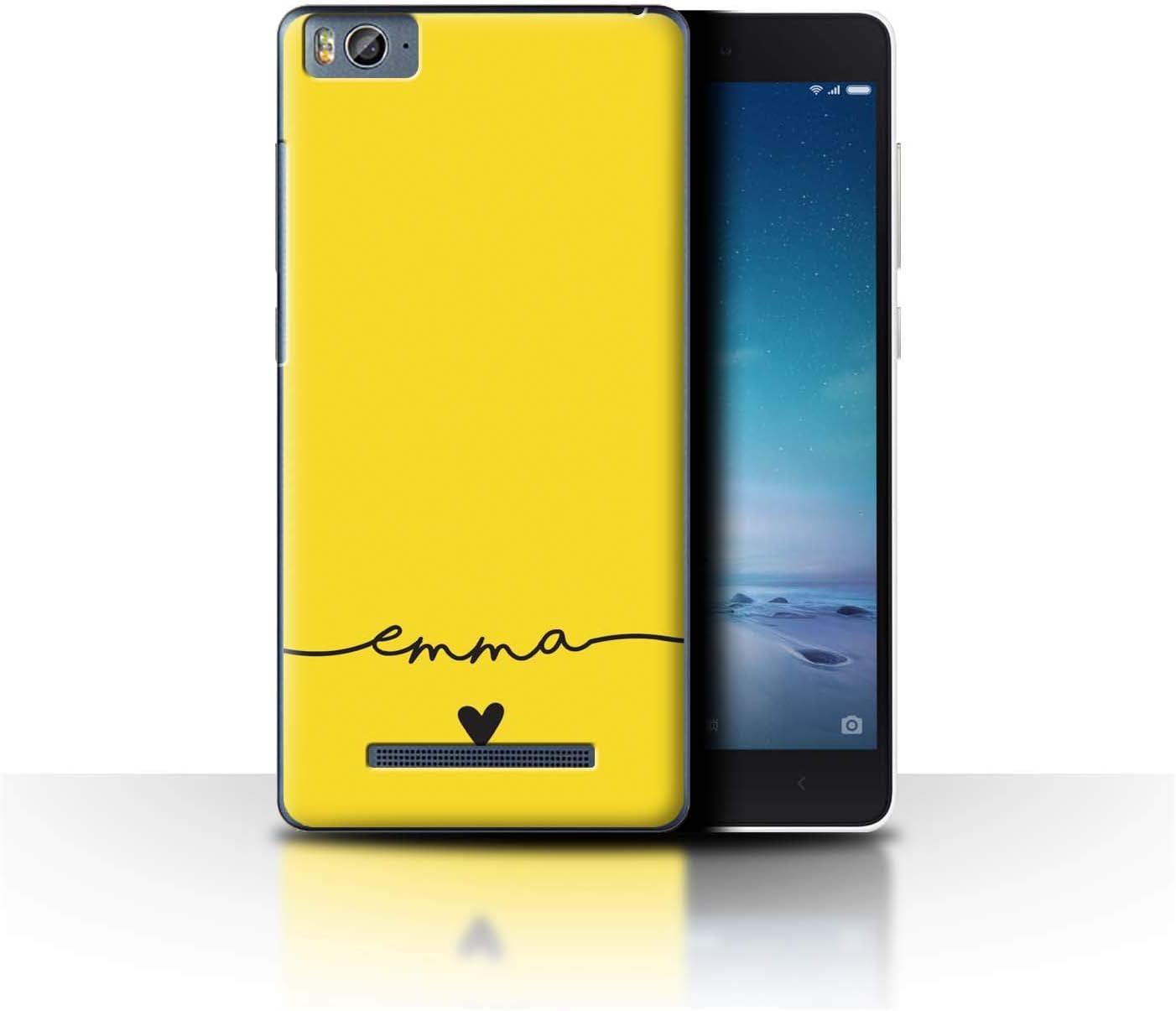Personalizado Paleta Colores Personalizar Funda para el Xiaomi Mi 4C / Amarillo Dorado Diseño/Inicial/Nombre/Texto Carcasa/Estuche/Case