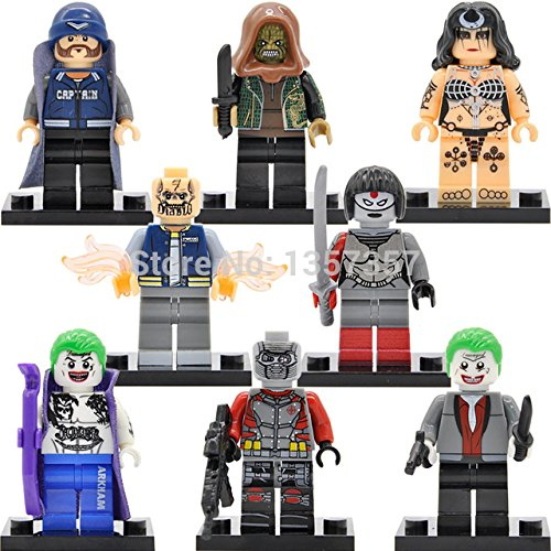 [DC Super Heroes Suicide Squad Minifigures Building Blocks 8pcs/lot Superhero Sets Models Brick Figures Toys For] (Joker Costumes Kids)