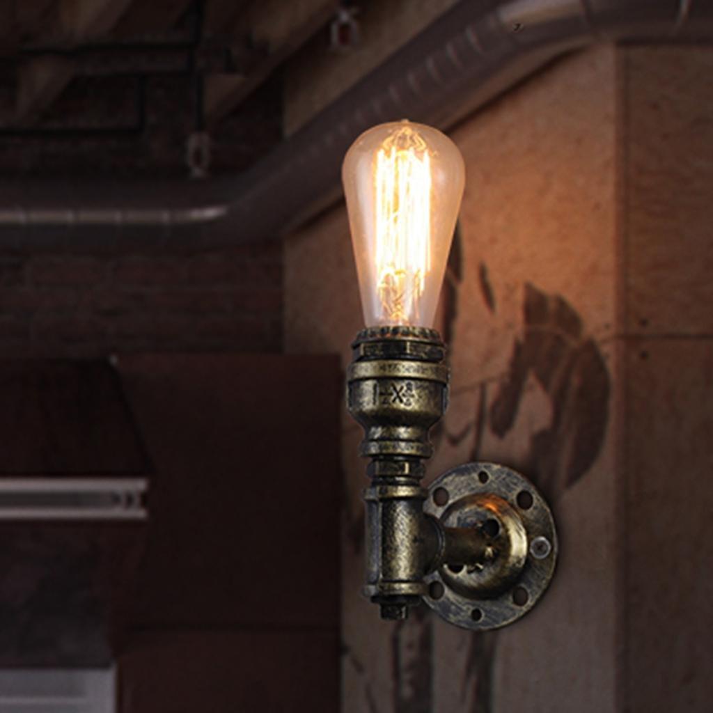 Nordic Retro Industriellen Stil Wandleuchte Eisenrohr Wandleuchte Treppen Gang Restaurant Bar Dekorative Beleuchtung, Licht E27  1, Größe 12  15 cm