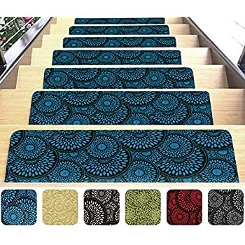 Indoor Stair Mats Set Of 7 Ultra Thin Microfiber Stair