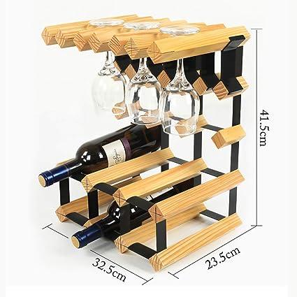 Estante de vino Soporte de exhibición vidrio de vino Suspensión de almacenamiento botella de vino de