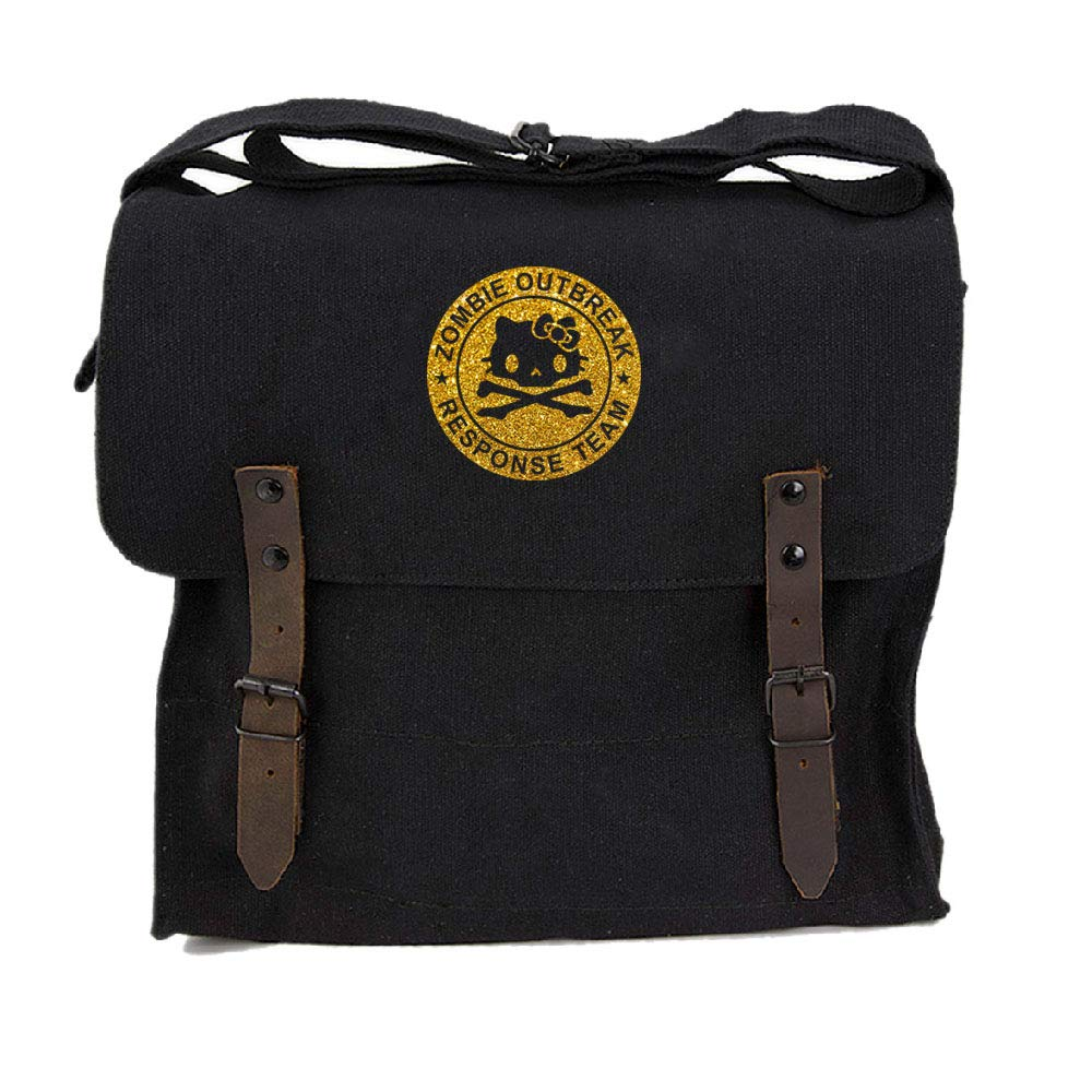 Zombie Outbreak Response Team Hello Kitty Canvas Medic Shoulder Bag Black & Gold