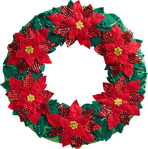 poinsetta wreath wallhanging kit