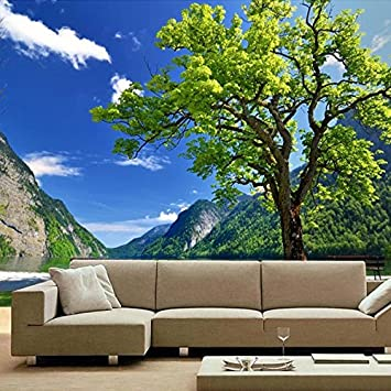 Fesselnd Lqwx Benutzerdefinierte Fototapete Wandbild Natur Der Chinesischen Stil,  Große Wandmalerei Park Landschaft Berg Und Wasser