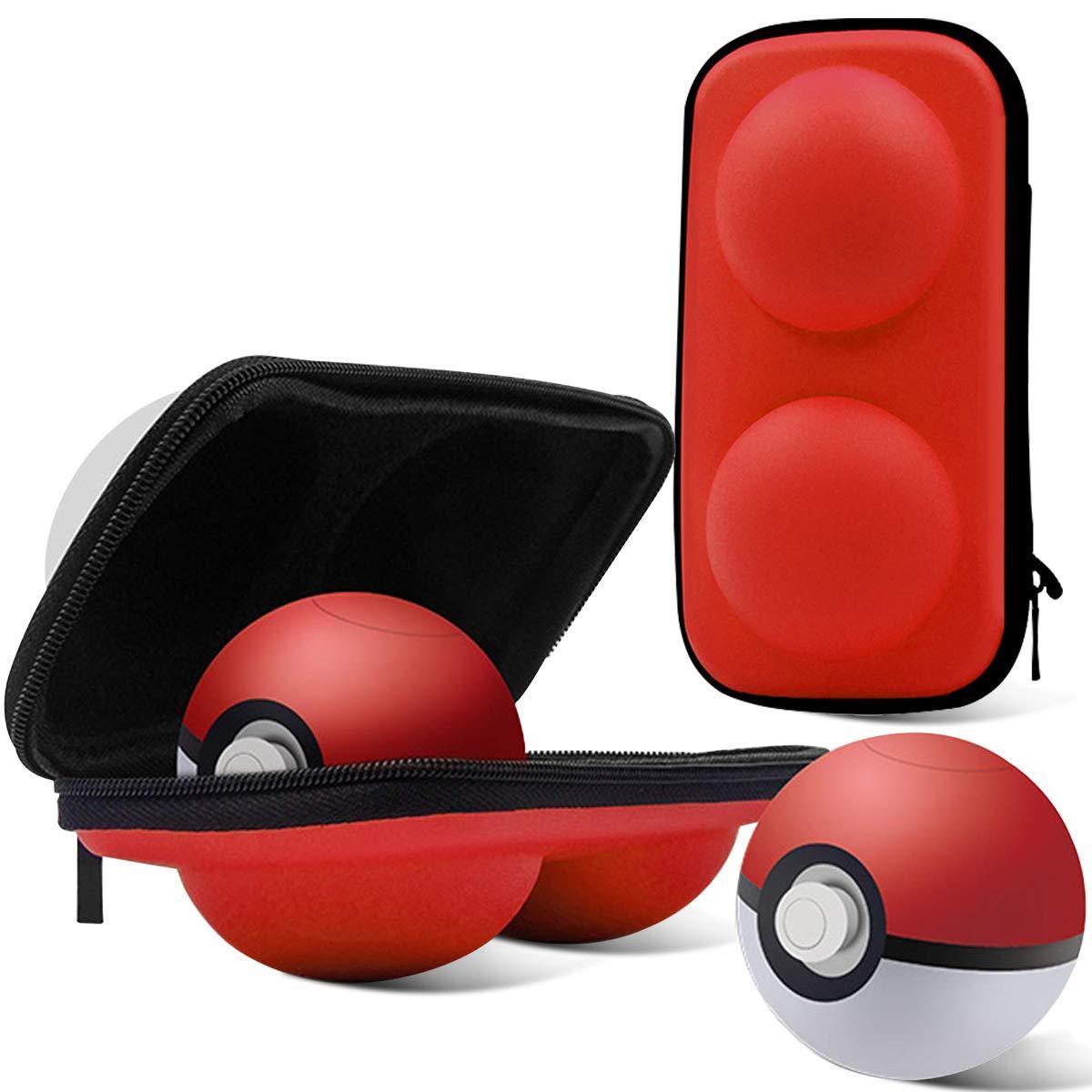 Haobuy Estuche Pokeball Plus,Compatible Controlador Poké Pokeball para Pokémon, portátil Lets Go Pikachu Eevee Juego Bolsa de Viaje Pokeball Bolsa ...