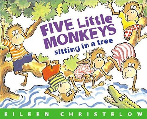 Five Little Monkeys Sitting in a Tree by Christelow, Eileen Reprint Edition [Paperback(1993/3/22)]